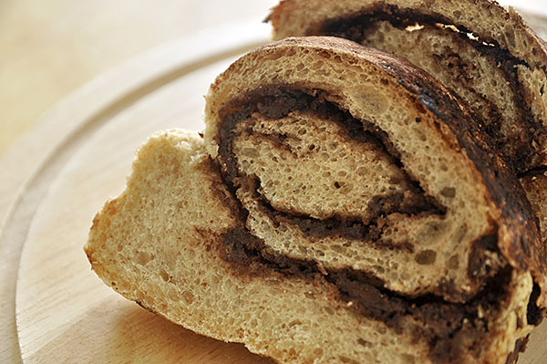 Ψωμί με σοκολάτα και ταχίνι/Bread with tahini and chocolate