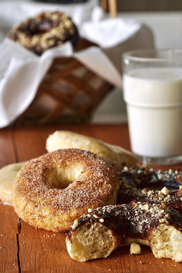 Αφράτα φουρνιστά ντόνατς/Fluffy baked donuts
