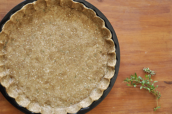 Ζύμη τάρτας ολικής αλέσεως με ελαιόλαδο και βρώμη/Olive oil tart crust