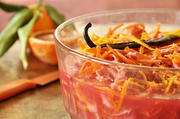 Αρωματική μαρμελάδα πορτοκάλι σαγκουίνι/Blood orange and vanilla marmalade