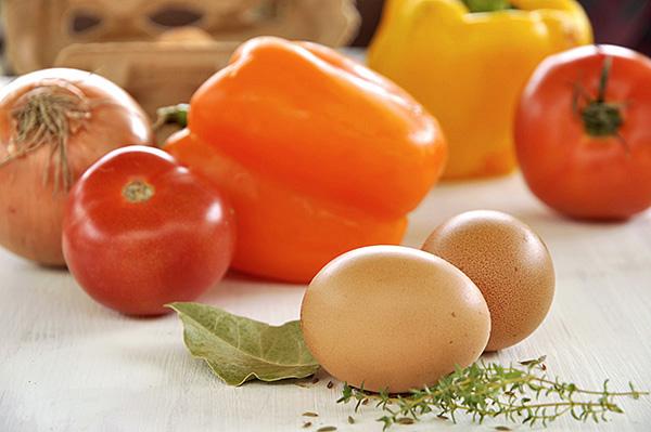 Λαχανικά και αυγά/Vegetables and eggs