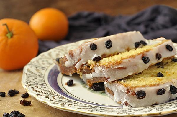 Κέικ πορτοκαλιού με σιρόπι και σταφίδες/Orange yogurt loaf with currants