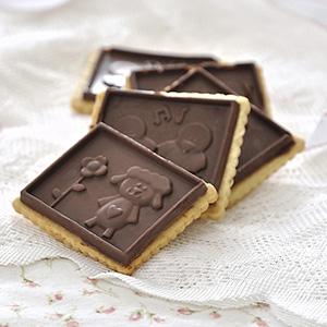 Μπισκότα με επικάλυψη σοκολάτας/Chocolate covered cut-out biscuits