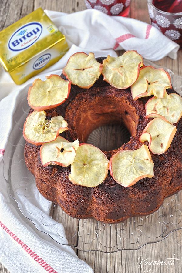 Πλούσιο κέικ μήλου με τυρί κρέμα/Tender Cream Cheese Apple Cake