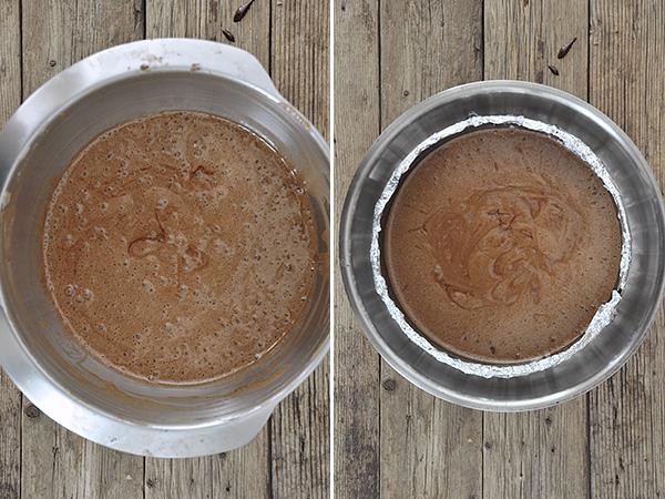 Μους-κέικ σοκολάτας χωρίς αλεύρι / Flourless chocolate mousse cake