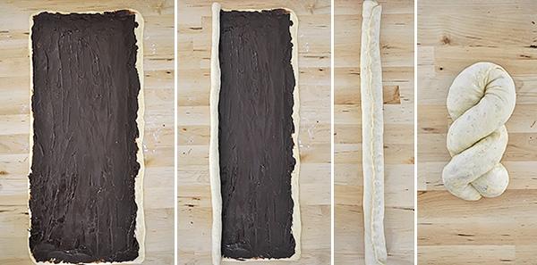 Γεμιστό τσουρέκι με σοκολάτα / Chocolate babka